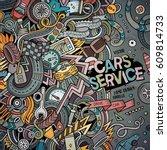 cartoon cute doodles hand drawn ... | Shutterstock .eps vector #609814733