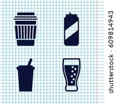 set of 4 soda filled icons such ... | Shutterstock .eps vector #609814943