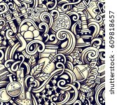 graphic science hand drawn... | Shutterstock .eps vector #609818657