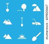landscape icons set. set of 9...   Shutterstock .eps vector #609820667