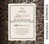 antique baroque luxury wedding... | Shutterstock .eps vector #609844613