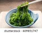 Japanese Weed Salad Closeup Shot