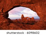 turret arch  arches national... | Shutterstock . vector #6098602