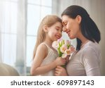 happy mother's day  child... | Shutterstock . vector #609897143