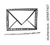 doodle envelope | Shutterstock .eps vector #609897407