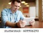 portrait of modern young man... | Shutterstock . vector #609906293