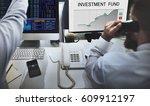stock exchange information... | Shutterstock . vector #609912197