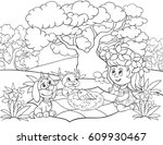 coloring page book for children ... | Shutterstock .eps vector #609930467