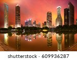 shanghai lujiazui finance city... | Shutterstock . vector #609936287