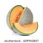 Cantaloupe Melon On White...