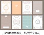 retro creative card with... | Shutterstock .eps vector #609949463
