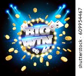 the word big win  surrounded by ... | Shutterstock .eps vector #609954467