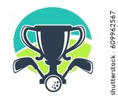 golf club vector logo template...   Shutterstock .eps vector #609962567