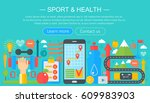 healthy lifestyle concept with...   Shutterstock .eps vector #609983903
