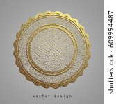 vector illustration. gold... | Shutterstock .eps vector #609994487