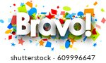 bravo paper background with...