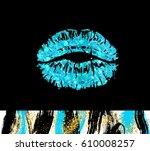 vector eps 10. blue glitter...   Shutterstock .eps vector #610008257