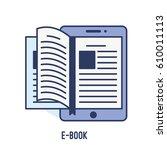 illustration of e book concept... | Shutterstock .eps vector #610011113