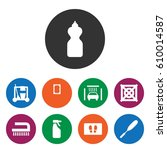 set of 9 cleaning filled icons... | Shutterstock .eps vector #610014587