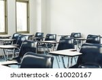 university lecture chairs and... | Shutterstock . vector #610020167