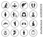 set of 16 person filled icons... | Shutterstock .eps vector #610028153