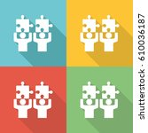 collaboration flat icon concept | Shutterstock .eps vector #610036187