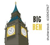 Big Ben London Isolated Detail...