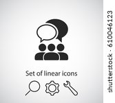 people talking  icon. one of... | Shutterstock .eps vector #610046123