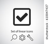 check  icon. one of set web... | Shutterstock .eps vector #610047437