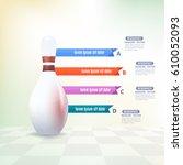 vector bowling elements...   Shutterstock .eps vector #610052093
