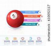 vector billiards ball...   Shutterstock .eps vector #610052117