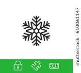 snowflake vector icon   Shutterstock .eps vector #610061147