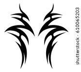 tattoo sketch tribal vector...   Shutterstock .eps vector #610065203