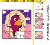 cartoon illustration of jigsaw...   Shutterstock .eps vector #610069007