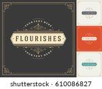 royal logo design template... | Shutterstock .eps vector #610086827