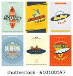templates of posters for... | Shutterstock .eps vector #610100597