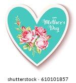 happy mother's day. vintage...   Shutterstock .eps vector #610101857