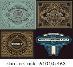 set of old cards | Shutterstock .eps vector #610105463