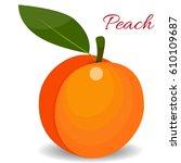 peach isolated icon. peach... | Shutterstock . vector #610109687