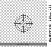 optical sight icon. | Shutterstock .eps vector #610114253