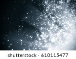 abstract silver background with ... | Shutterstock . vector #610115477
