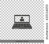 customer service icon. laptop... | Shutterstock .eps vector #610116053