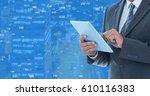 digital composite of man... | Shutterstock . vector #610116383