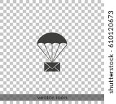 airmail shipping delivery icon. | Shutterstock .eps vector #610120673