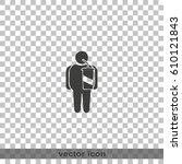 overweight man icon. | Shutterstock .eps vector #610121843