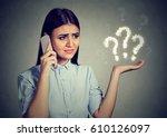 misunderstanding and distant... | Shutterstock . vector #610126097