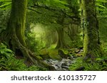 nepal jungle with river   Shutterstock . vector #610135727