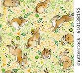 Cute Bunny Seamless Pattern....