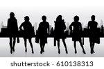 vector silhouette of business... | Shutterstock .eps vector #610138313