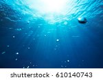 Sea Underwater View With Sun...